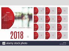 Vector of Calendar 2018 year ,12 month calendar with