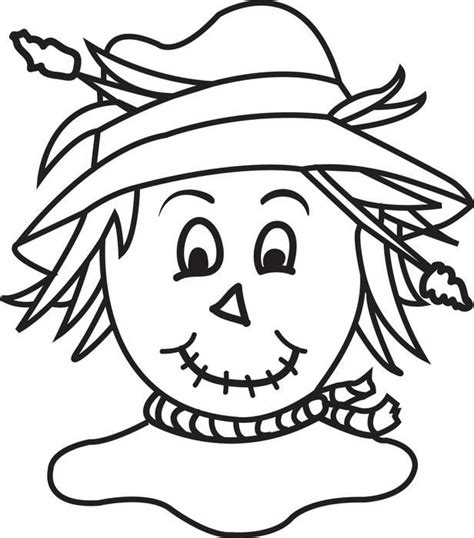 scarecrow coloring page  coloring pages ideas