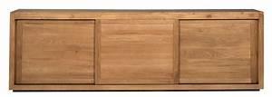 Buffet Portes Coulissantes : buffet oak pure d 39 ethnicraft 3 portes coulissantes largeur 250cm ~ Teatrodelosmanantiales.com Idées de Décoration