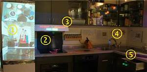 Augmented Reality Kitchen  Information Projection On The Refrigerator