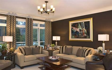 beautiful living rooms  brown walls