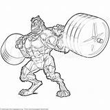 Coloring Pages Weightlifting Beast Getcoloringpages Printable Cartoon Animal sketch template