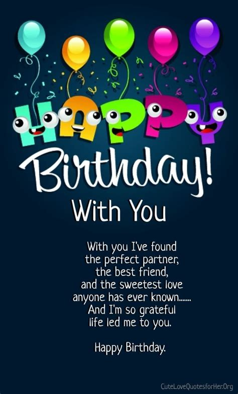 happy birthday love poems   cute love quotes