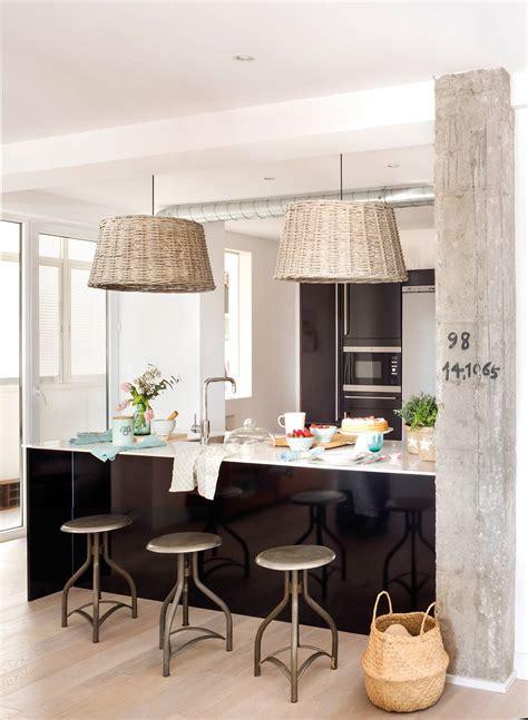 cocinas abiertas  integradas en el salon  comedor
