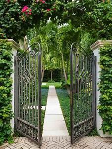 portillon de jardin 50 idees pour votre exterieur With portail de jardin en fer