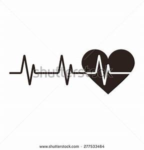 heartbeat line clipart black and white png - Clipground
