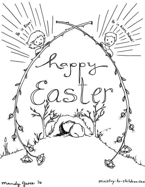kids easter coloring sheets ministry  children