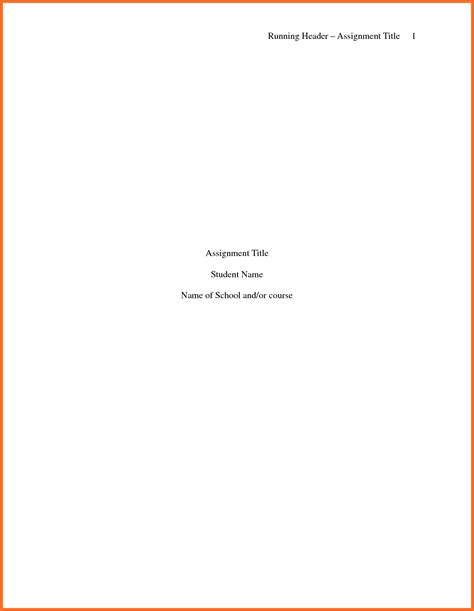 Title Page Template Apa Title Page Template Soap Format Regarding Apa Cover