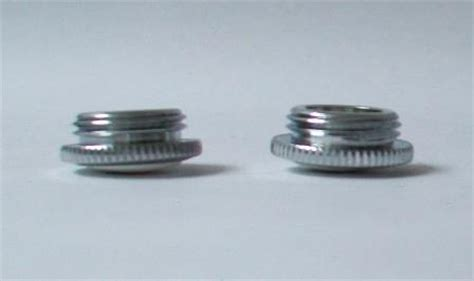Screw In Chrome White Tap Top Hot and Cold Indicators