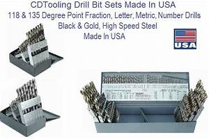 drill bit sets high speed steel made in usa fractional With letter and number drill bit set