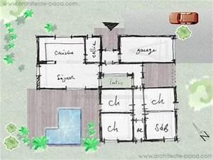 Maison Architecte Plan : plan maison architecte moderne 3d ~ Dode.kayakingforconservation.com Idées de Décoration
