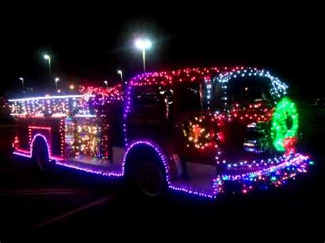 old fire truck in christmas lights youtube