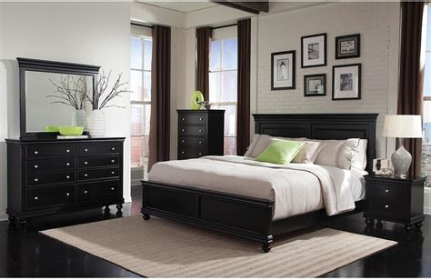 bridgeport  piece queen bedroom set black  brick