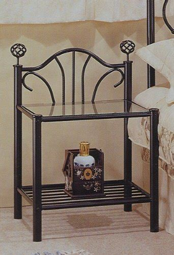 metal and glass nightstand glass nightstands easy home concepts