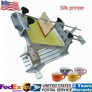 Low Noise Manual Double Guide Rail Silk Screen Printing