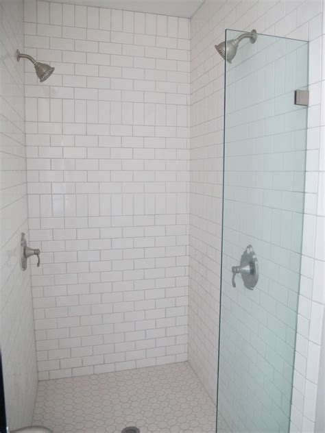 white subway tile bathroom white subway tile with shower
