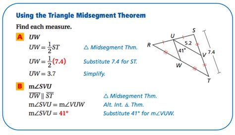 6) Triangle Midsegment Theorem