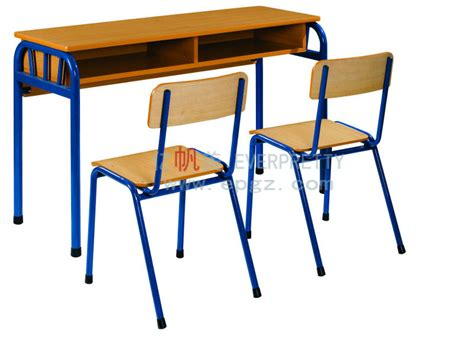 student desk with two chairs for junior school elementary
