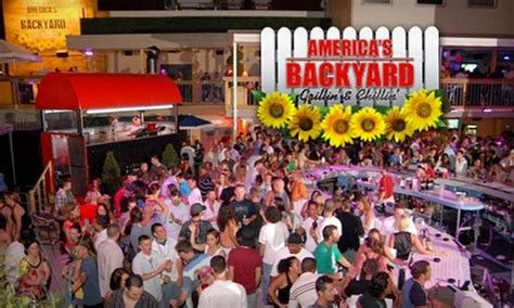 Half Off Bar Fare At America's Backyard