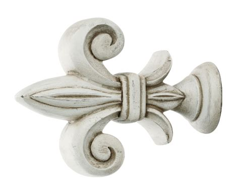 kirsch fleur de lis finial for 1 3 8 inch or 2 inch wood