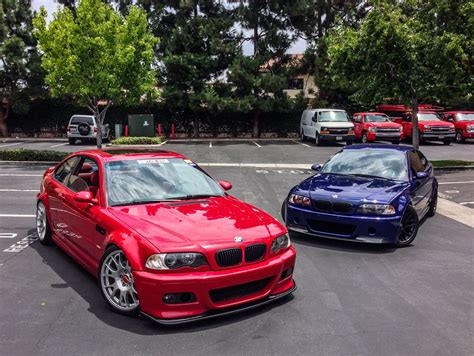 red bmw e46 imola red interlagos blue m3 cars pinterest more