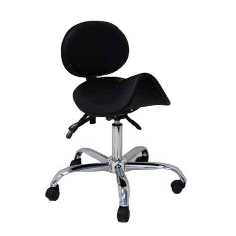 saddle chair with back rest posture lumber new saddle