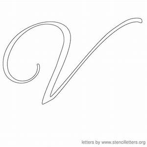 Cursive, Cursive letters and Letter stencils on Pinterest