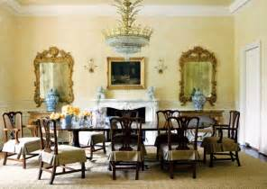 Southern Living Formal Living Rooms by Formal Dining Room Chippendale Chair Gilded Mirrors