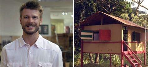Rodrigo Hilbert constrói casa no jardim para filhos brincarem