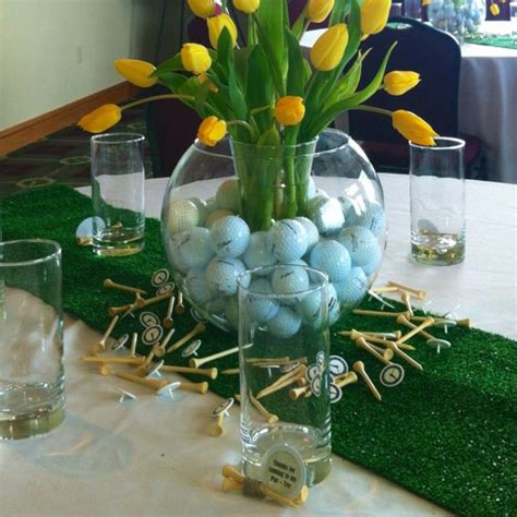 table decoration ideas for parties graduation golf theme party centerpiece golf