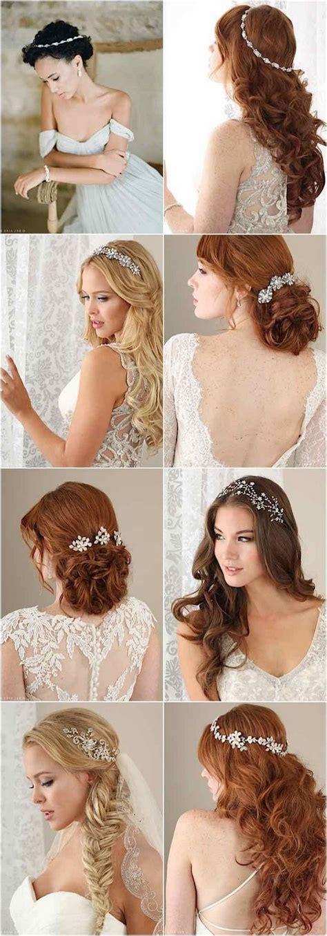 100+ Romantic Long Wedding Hairstyles 2020 Curls Half