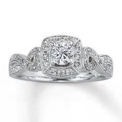 kays engagement ring engagement ring 5 8 ct tw cut 14k white gold