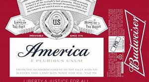 a b inbev looks to replace budweiser with 39america39 on With custom budweiser label