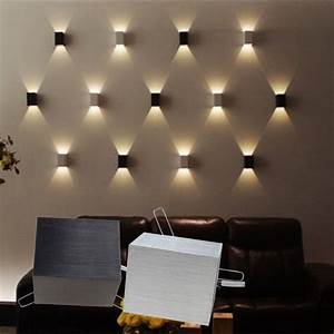 W led square wall lamp hall porch walkway bedroom