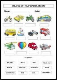 transportation choice b w worksheet transportation theme