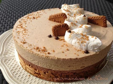 dessert avec du speculoos entremet avec craquant speculoos mousse au chocolat et mousse aux speculoos autour du sucr 233