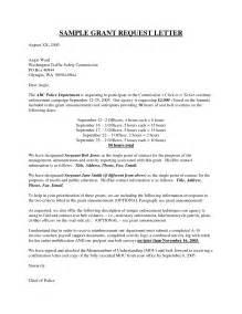 Grant Request Letter Sample