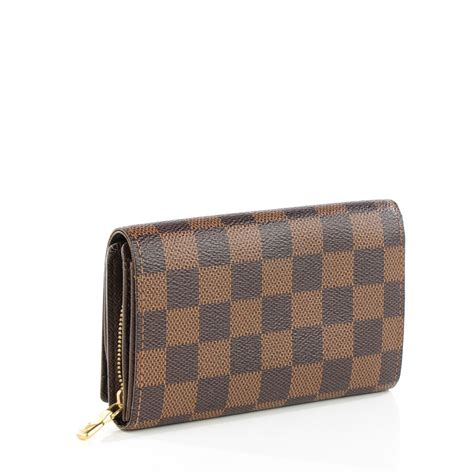 louis vuitton damier ebene porte monnaie billets wallet 129663
