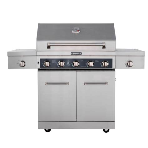 Kitchenaid Gas Grill Home Depot by Kitchenaid 5 Burner Propane Gas Grill In Stainless Steel