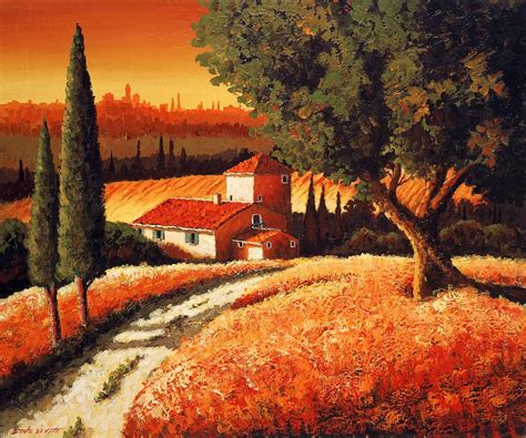 tuscan landscaping tuscan art tuscan landscape painting art tuscany pinterest tuscan art paintings and