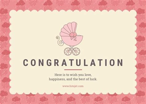 congratulations card for new baby template baby congratulation card template chrzciny
