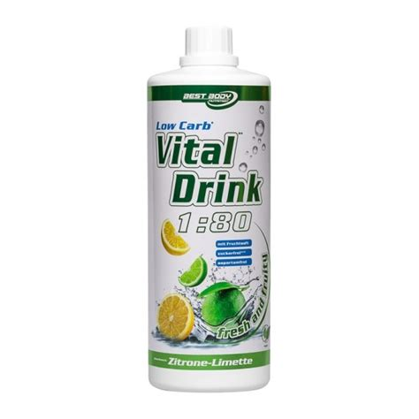 Best Body Nutrition Low Carb Vital Drink  Lemon 1000 ml