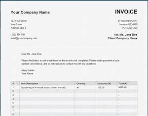 A basic simple online pdf invoice generator for Free invoice template bill generator