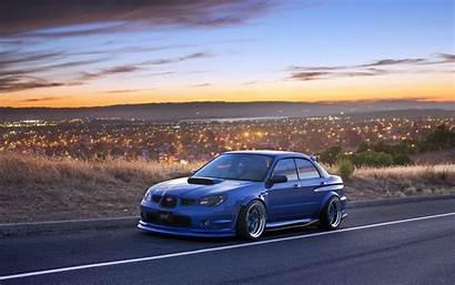 Subaru Sti Impreza Wrx Tuning Night Wallpapers
