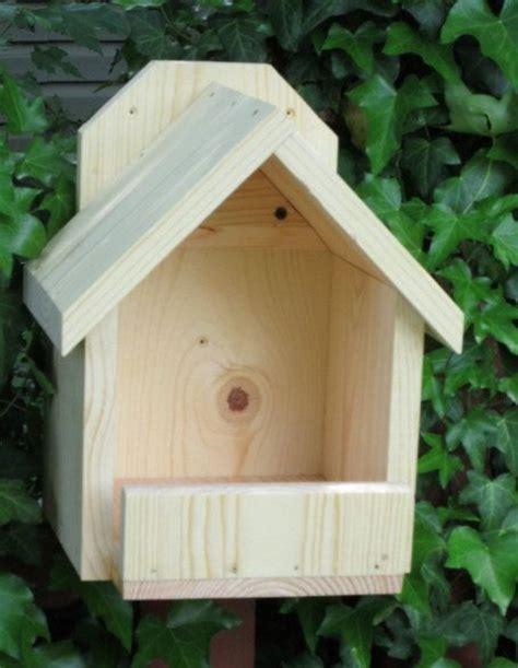 handcrafted natural wood cardinal nesting shelf bird house