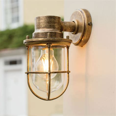 brass ship s light porch garden lantern outdoor