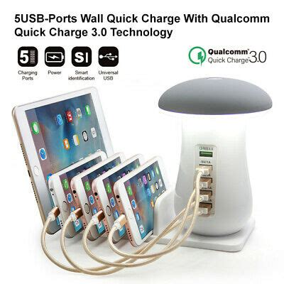 Multiple Pro Quick USB Phone Charger Mushroom Charger QC 3 ...