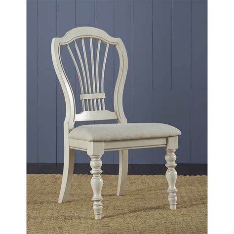 hillsdale pine island wheat back dining chair set of 2