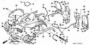 Honda Atv 2006 Oem Parts Diagram For Front Fender