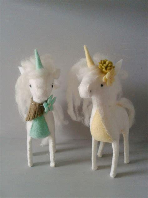 unicorn sewing kit mint diy felt animal craft kit